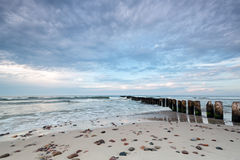 Kuznica Beach on the Baltic Sea Stock Images