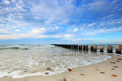Kuznica Beach on the Baltic Sea Royalty Free Stock Photography