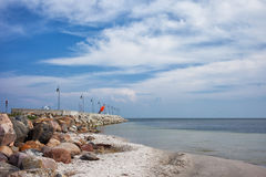Kuznica Pier on Hel Peninsula Royalty Free Stock Images