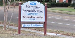 Kväkare av Memphis Sign arkivfoto