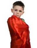 Kvällsmålhjältepojke Royaltyfri Fotografi