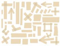 Kväva tejpsamlingen, olika formatstycken på vit bakgrund vektor för set för tecknad filmhjärtor polar Arkivfoto