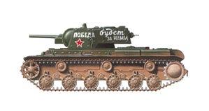 Kv-1 zware tank Stock Afbeeldingen