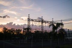 115/33 kV avdelningskontor i Thailand Arkivfoto