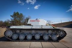 KV-1 - Carro armato pesante sovietico dalla seconda guerra mondiale Fotografie Stock Libere da Diritti