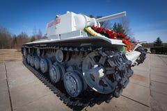 KV-1 - Carro armato pesante sovietico dalla seconda guerra mondiale Immagine Stock