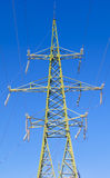 110 kv  High voltage tower Stock Photo