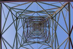 The 750 kV line support is a power distribution and transmission. Unit to the consumer stock image