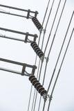 115-KV-, Linien-und Suspendierungs-Isolator dreiphasig Stockfoto
