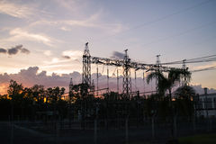 115/33 KV-Nebenstelle in Thailand Stockfoto