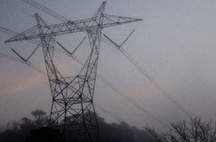 500kV Power Lines Towers Royalty Free Stock Photo
