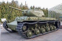 KV-1S-重的坦克(苏联) 1942年 重量, t - 42,5 图库摄影