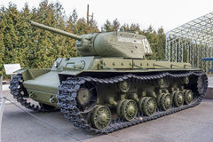 KV-1S- Heavy tank  (USSR)1942. Weight,t - 42,5 Stock Photography