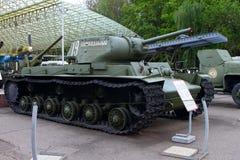KV-1S tunga TankUSSR på jordning av vapenutställningen i Vict Fotografering för Bildbyråer