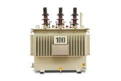 100 kVA油浸的变压器 库存图片