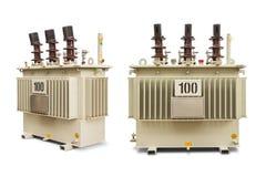 100-KVA-ölgeschützter Transformator Stockbilder