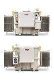 1500 kVA N2气体密封了幅射器飞翅类型变压器 库存图片
