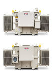 1500 kVA N2 gas sealed radiator fin type transformer Stock Image