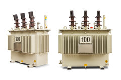 100 kVA Oil immersed transformer Stock Images