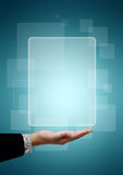 kvadrat för affärshandman Arkivbild