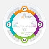 Kvadratdelcirkel Infographic Arkivbilder
