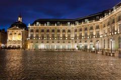 Kvadrera av börsen, Bordeaux Arkivbilder
