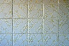 Kvadrera badrummen belägger med tegel Arkivbilder