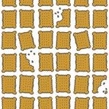 Kvadrera kakor som färgrika söta seamless mönstrar Arkivfoton