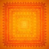 Kvadrera orient prydnadbakgrund Royaltyfri Bild