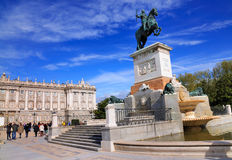 Plaza de Oriente, Madrid, Spanien Royaltyfri Bild