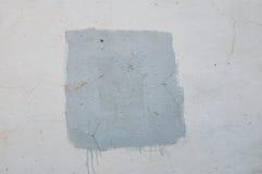 Kvadrera ungefärligt målat med målarfärg på väggen för en bakgrund med ramen Royaltyfri Fotografi