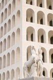 Kvadrerad Coliseum i Rome Arkivfoto