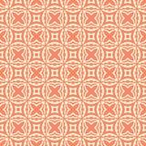Kvadrerad illustration för modell för bakgrund för stjärnor för blommor n sömlös i orange bakgrund Arkivfoto