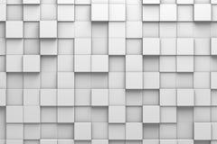 Kvadrerad modellvägg för tegelplattor 3D stock illustrationer