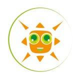 Kvadrerad sol Arkivfoton