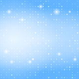 Kvadrerar abstrakt bakgrund för blått med litet Arkivfoton