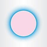 Kvadrerar abstrakt bakgrund för cirkeln halvton Fotografering för Bildbyråer