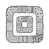 Kvadrerar med en abstrakt begrepp mönstrar Royaltyfri Bild