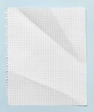 Kvadrerat skrynkligt ark av papper Arkivbild