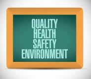 kvalitet, hälsa, säkerhet och miljö Arkivbild