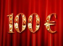 kvalitet 100 i stil av ett euromynt Royaltyfri Fotografi