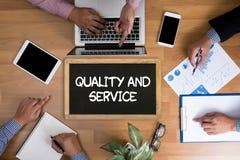 Kvalitet och service, kvalitet - service - pris Royaltyfri Foto