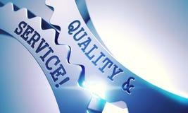 Kvalitet och service på mekanismen av metalliska kugghjul 3d Arkivbild