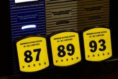 Kvaliteter av bensin för bil Fotografering för Bildbyråer