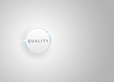 Kvalitets- affärsknapp - blå knapp - affärsnavigering Arkivbild