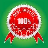 Kvalitets- etikett Arkivfoton