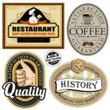 Kvalitets- för tappning högvärdiga och populärast etiketter. Arkivfoton