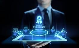 Kvalitets- försäkring, garanti, normal, ISO-attestering och standardiseringbegrepp arkivfoton