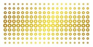 Kvalitets- guld- rastrerad effekt royaltyfri illustrationer