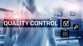 Kvalitets- kontroll och f?rs?kring standardisation guarantee normal Aff?rs- och teknologibegrepp arkivbild